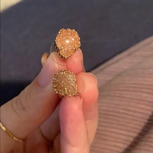Kendra Scott- rose gold tessas with irridesent